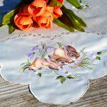 Húsvéti asztalközép - nyuszik a fűben