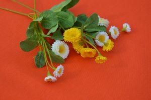 Narancs színű terítő - pamut asztalterítő