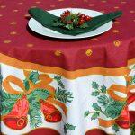 Karácsonyi asztalterítő - éjféli harangok, bordó