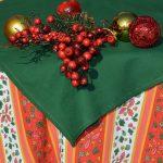 Karácsonyi asztalterítő - magyal mintás 140x115cm