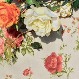 Rózsás asztalterítő - bronzvirág terítő