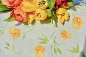 Asztalterítő tulipános - sárga tulipános terítő