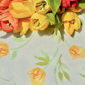 Tulipános asztalterítő - sárga tulipánok