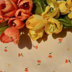 Asztalterítő - apró tulipános terítő