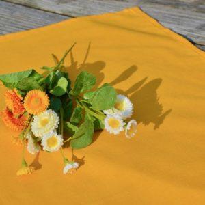 Egyszínű terítő sárga - pamut asztalközép