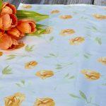 Asztali futó tulipános - sárga tulipánok