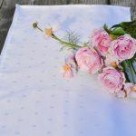 Asztali futó impregnált- fehér damaszt