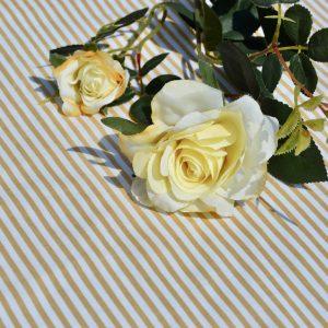 Csíkos asztalterítő - drapp fehér csíkos