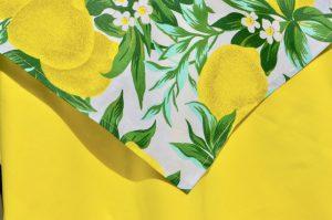 Citromos terítő - sárga asztalterítő garnitúra