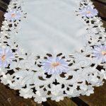 Asztali futó - Fehér margaréták 90x40 cm