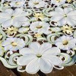 Asztali futó - Riselt virágözön