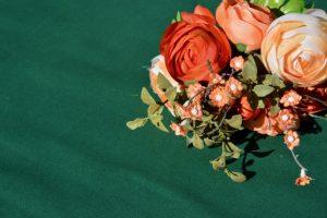 Sötétzöld terítő - egyszínűpamut asztalterítő