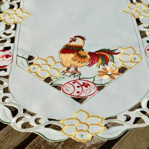 Húsvéti asztali futó - kakasos terítő 90x40 cm