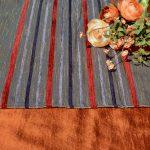 Ünnepi asztalterítő narancs - barna futóval