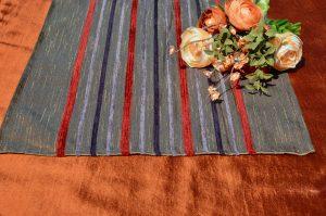 Alkalmi asztalterítő narancs - barna futóval