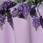 Lila színű terítő - egyszínű pamut asztalterítő