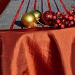 Karácsonyi asztalterítő naracs - hosszú csíkos futóval