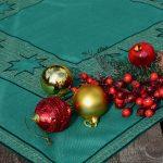 Karácsonyi asztalközép - zöld csillagos II.