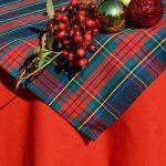 Skót kockás asztalterítő - Karolína garnitúra