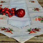Karácsonyi asztali futó - harangos mintával 180x40 cm