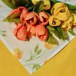 Asztalterítő - Alíz sárga tulipánjai