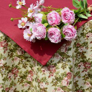 Rózsás terítő - Fanni rózsái garnitúra I.