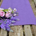 Asztali futó - levendula lila 140x40 cm