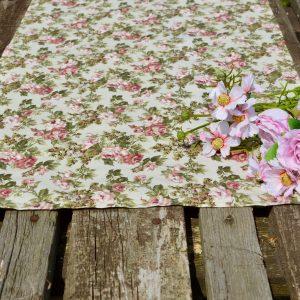 Asztali futó rózsás - Fanni rózsái 140x40cm terítő