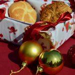 Textil kenyérkosár - bordó mikulás csizmás