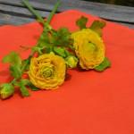 Narancssárga terítő - egyszínű pamut asztalközép
