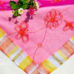 Asztalközép terítő - Pink színű közép