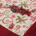 Karácsonyi pamut asztalközepek
