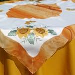 Asztalközép terítő - Sárga napraforgók 85x85cm