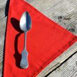 Textil szalvéta: egyszínű - piros