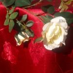 Teflonos damaszt asztalterítő - bordó színű