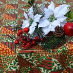 Karácsonyi terítő - folton, folt
