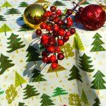 Karácsonyi abrosz krém - zöld fenyős