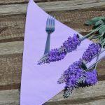 Textil szalvéta egyszínű - halvány lila