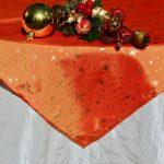 Asztalterítő garnitúra - krémszín naranccsal