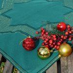 Karácsonyi asztalközép - zöld csillagos I.