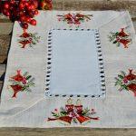 Karácsonyi kis terítő - harangos mitával 35x45cm