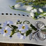 Abrosz virágos - kamillavirág 220x150 cm